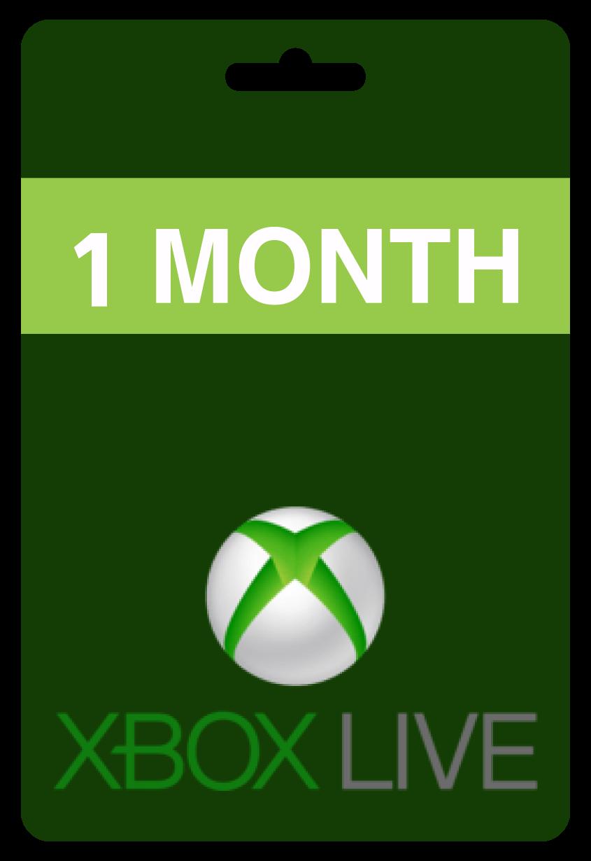 اكس بوكس لايف 1 شهر