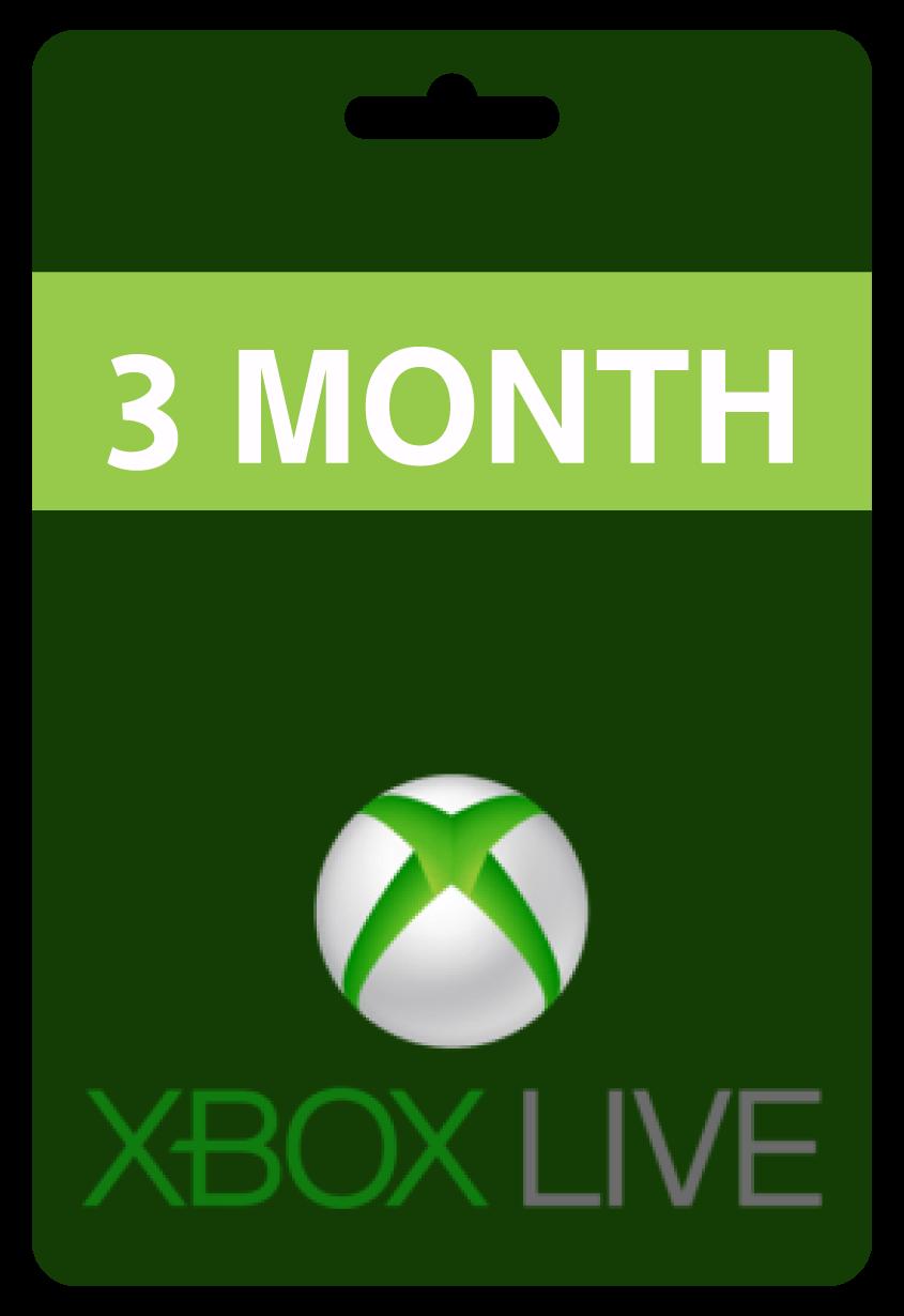 اكس بوكس لايف 3 شهور
